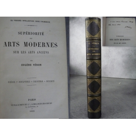 Véron Eugène Du Progrès intellectuel dans l'humanité. Supériorité des arts modernes sur les arts anciens, E.0. Envoi