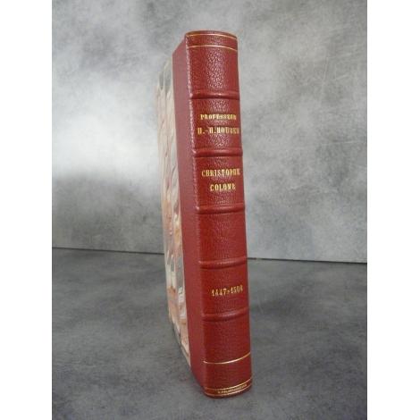 Houben Christophe Colomb 1447 1506 Payot 1535 bel exemplaire en reliure signée. Maroquin cerise.