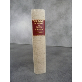 Albert de Bertier de Sauvigny Pages d'histoire locale 1914 1919 notes et souvenirs grande guerre envoi signé Soisson