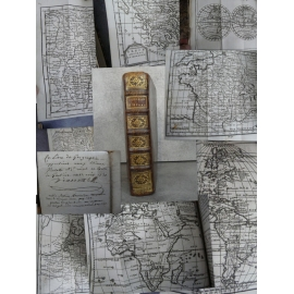 Buffier Géographie universelle 1739 précédé d'un traité de la sphère 1738 nombreuses cartes dépliantes