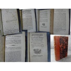 Riboud, Bresse Bourg Brou Bellay recueil unique de 6 rares plaquettes region de bourg et ain.