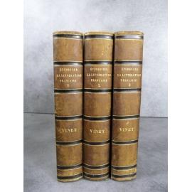Vinet Etudes sur la littérature française au XIXe Paris Rue Rumford 1849-1851 Edition rare et de référence.