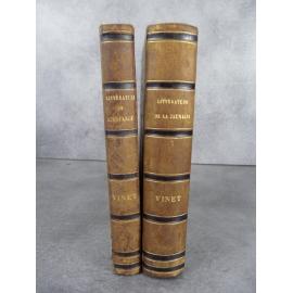 Vinet Etudes sur la littérature de l'enfance Chrestomathie française Bruxelles 1850