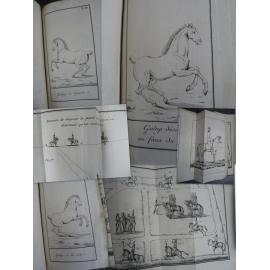 Ordonnance provisoire cavalerie An XIII 1804 Atlas de 126 planches Cheval équitation gravure