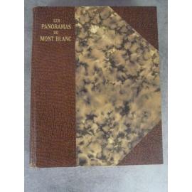 Perret Robert Les Panoramas du mont blanc Dardel Chambery 1929 Glacier réchauffement climatique.