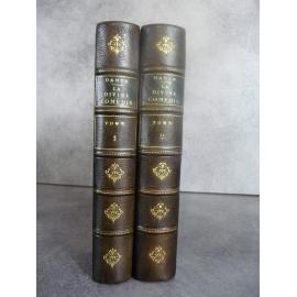 Dante la divine comédie traduction de Lamennais 1883 couvertures cuir, bon exemplaire Saint Malo