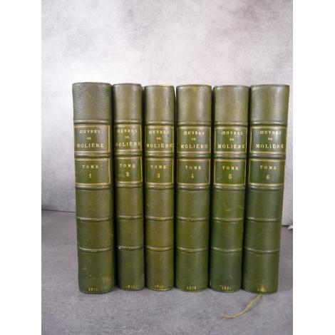 Molières Oeuvres Eugene Despoix Belles reliures beau papier 1873 tête de série.
