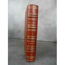 Cabanis Rapport du physique et du morale de l'homme Paris Masson 1843 Bel exemplaire reliure cuir