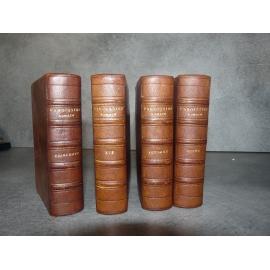 Paroissien romain très complet Mame 1887 4/4 mini volumes plein chagrin gardes de Augsburg illustré style XVe belles reliures