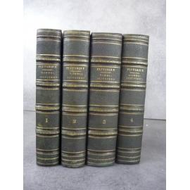 Plutarque vie des hommes illustres Alexis Pierron traduction et notes. 4/4 volumes bien reliés.