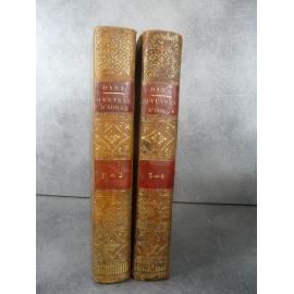 Horace traduit Daru Pierre. Paris Levrault et Schoell.1804 Reliure plein veau de l'époque .