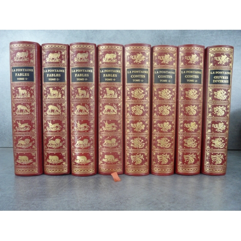 Jean de Bonnot La Fontaine Contes et Fables 8 volumes superbes 1969 collector avec erreur contes tome3