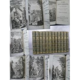 Berquin l'ami des enfans [enfants] enfantina gravure 12/12 petits volumes très bien reliés