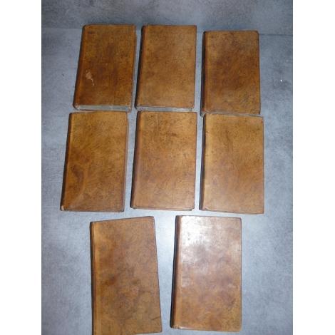 Duquesne Évangile médité pour tous les jours de l'année. Complet 8 volumes reliures plein veau marbré.