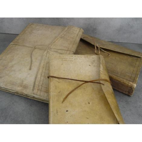 Manuscrits Livres de la régie d'Yvours Irigny Lyon Rhone échange commerciaux de 1798 a 1814 livre de raison reliure registre