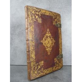Manuscrit sur vélin Preuve de noblesse espagnole dans sa reliure plein maroquin superbe et unique armoiries enluminure