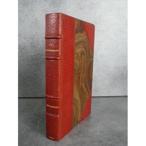 Guy de Maupassant, Miss Harriet, Edition originale reliure maroquin, Envoi signé Maupassant