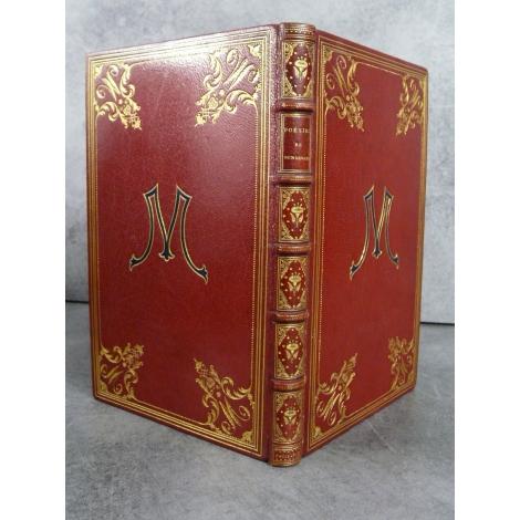 Poésies de Bensérade publiées par Octave Uzanne exemplaire sur chine reliure plein maroquin de Durvand