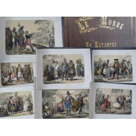 Elisabeth Muller Le monde en Estampe 24 superbes lithographies en couleur costumes pays gravures XIXe