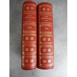 Curiosa Nerciat Les aphrodites 1793 2 volumes de tete sur grand papier parfait