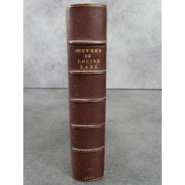 Œuvres de Louise Labé Lyonnaise, publiées par Charles Boy Lemerre 1887 sur beau papier belle provenance.demi maroquin signé