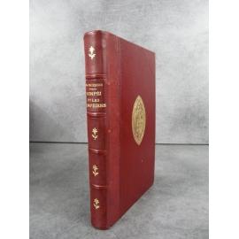 Marc-Monnier Pompéi et les pompéiens 22 gravures Italie Paris Hachette 1886 Bien relié cuir, fer des Chartreux de Lyon