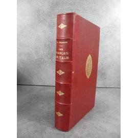 Grandin Les français en Italie Campagne de 1859, en Syrie et Cochinchine Bien relié cuir, fer des Chartreux de Lyon
