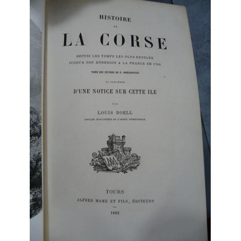 Boell Louis, Grégorovius Histoire de la corse depuis les temps les plus reculés jusqu'à son annexion à la France en 1769