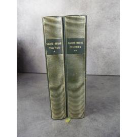 Collection Bibliothèque de la pléiade NRF Sainte Beuve Oeuvres T1 et 2 collector 1949 bon exemplaire