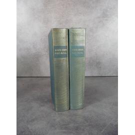 Collection Bibliothèque de la pléiade NRF Sainte Beuve Port Royal T1 et 2 collector 1953 bon exemplaire