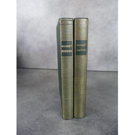 Collection Bibliothèque de la pléiade NRF Musset Poésies et Théatre collector 1951 bon exemplaire