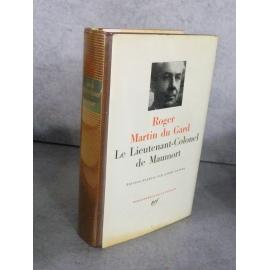 Collection Bibliothèque de la pléiade NRF Roger Martin du Gard Maumort 20 juillet 1983
