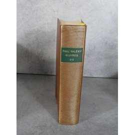 Collection Bibliothèque de la pléiade NRF Paul Valery Oeuvres tome 2 20 septembre 1960 collector