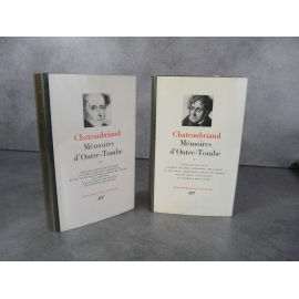Collection Bibliothèque de la pléiade NRF Chateaubriand Mémoires d'Outre-Tombe bel exemplaire