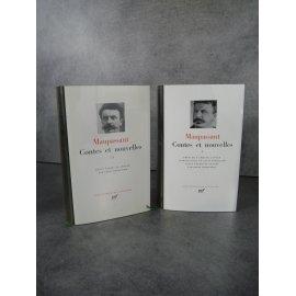 Collection Bibliothèque de la pléiade NRF Maupassant Contes et nouvelles bel exemplaire