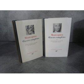 Collection Bibliothèque de la pléiade NRF Montesquieu Oeuvres complètes T1 et 2 bel exemplaire
