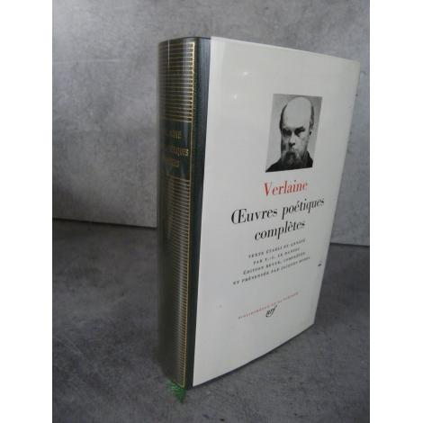 Collection Bibliothèque de la pléiade NRF Paul Verlaine Oeuvres poétiques complètes bel exemplaire