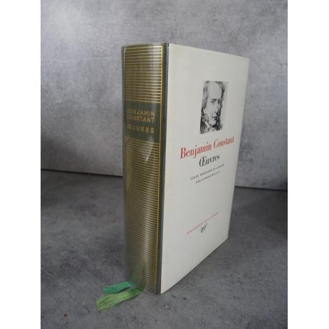 Collection Bibliothèque de la pléiade NRF Benjamin Constant Oeuvres bel exemplaire