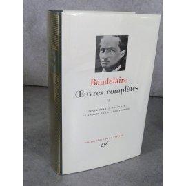 Collection Bibliothèque de la pléiade NRF Baudelaire Œuvres complètes collector 1954