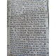 Bible lyonnaise de 1664 reliure pleine soie, et offerte par le relieur à Mr Belicard curé de Saint Bruno Rare .