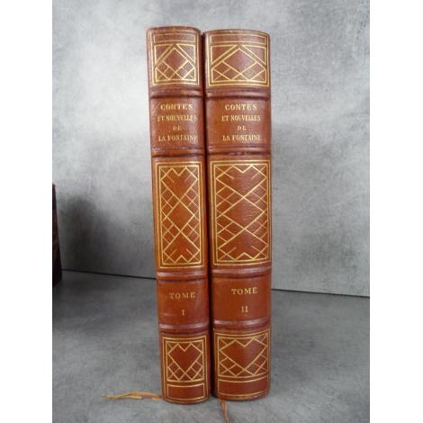 Contes et Nouvelles en vers de Jean de La Fontaine. Illustrés par Charles Martin. Illustrations hors texte reliure