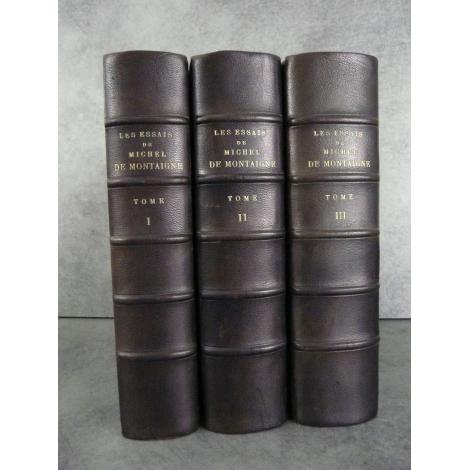 Montaigne (Michel de) Les Essais Edition critique Pierre Villey Chez Felix Alcan Bien relié numéroté Bel exemplaire