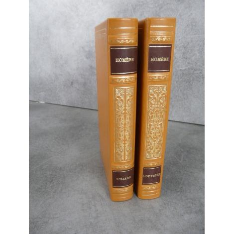 Homère L'Iliade , l'Odyssée Collection Garnier Prestige pleine reliure cuir éditeur tête dorée