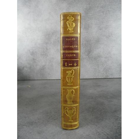 Hancarville Antiquités étrusques grecques et romaines veau blond aux vases 4 parties en 1 tome texte seul