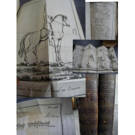 Ordonnance provisoire cavalerie An XIII 1804 Atlas de 126 planches Cheval gravure