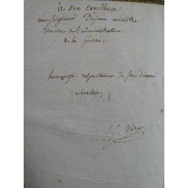 Dédicace de Virrey à Dejean ministre de la guerre de Napoléon L'art de perfectionner l'homme.Provenance d'exception