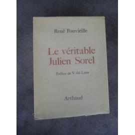 René Fonvielle Le véritable Julien Sorel Edition originale Stendhal Grenoble le rouge et le noir