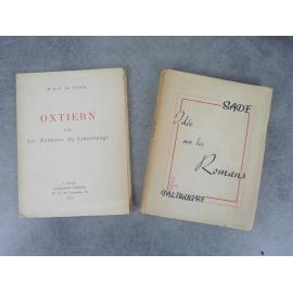 Sade Palimurge Pauvert Idée sur les romans et Oxtiern ou les malheurs du libertinage Lot de 2 volumes.