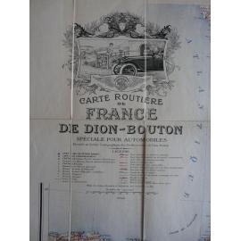 Carte routière France De Dion Bouton bel exemplaire parfait état
