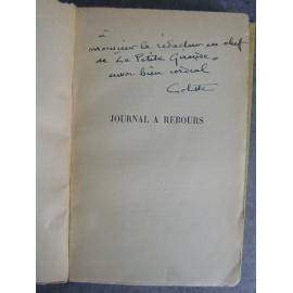 Colette Journal à Rebours avec bel envoi exemplaire du service de presse broché étui.